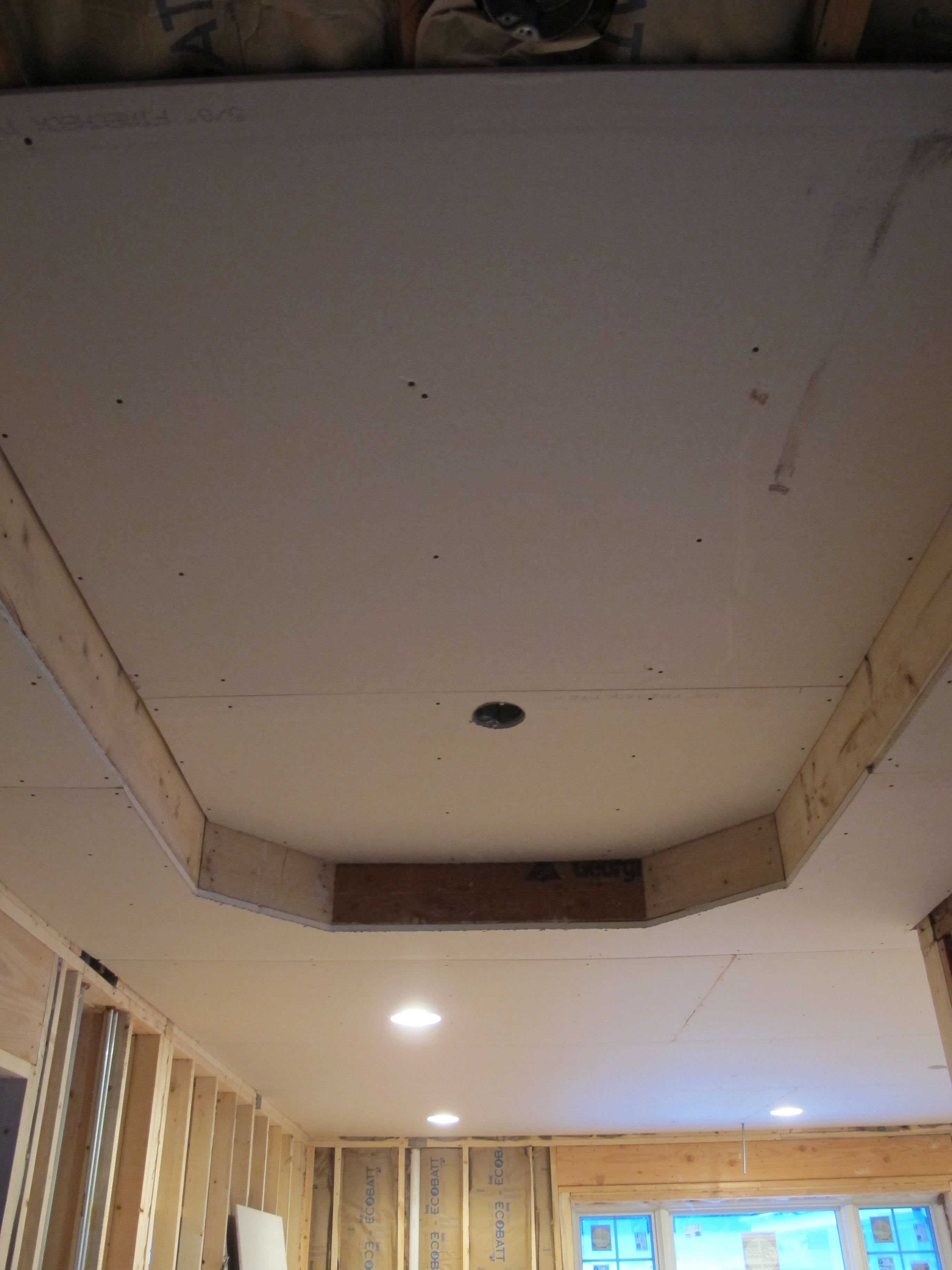 Foyer Tray Ceiling : Details drama and drywall yes you can go home again